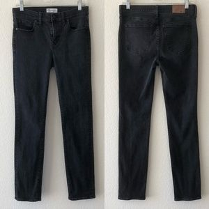 Madewell alley straight black gray wash jeans 29